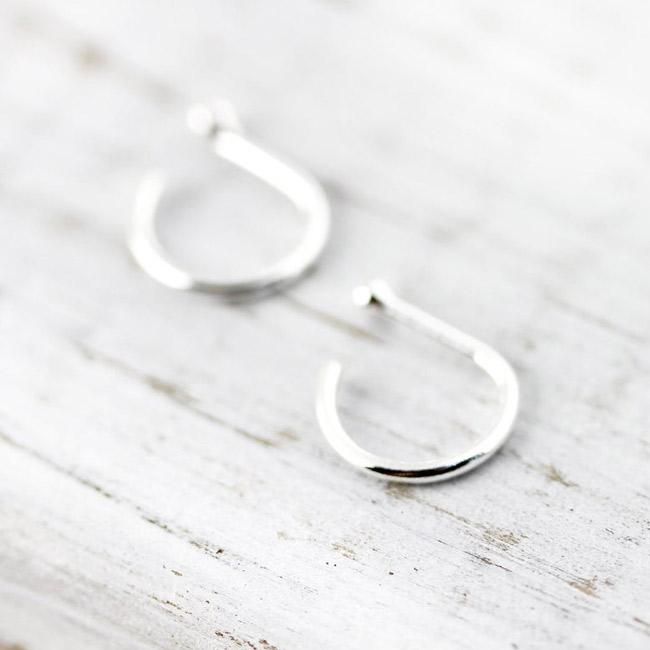 Bijoux - boucle d'oreille - huggies argent 8mm
